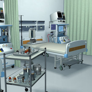 intensive care unit icu 3D model