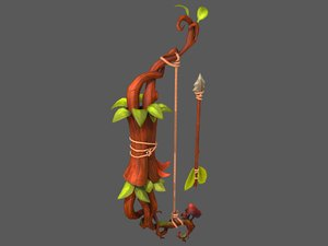 3D model stylized bow arrow