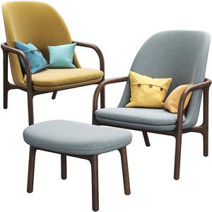 neva easy chair artisan 3D
