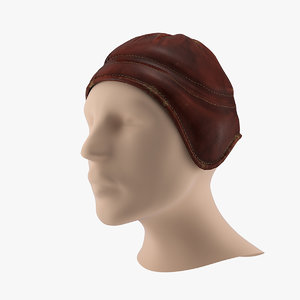 3D beanie hat leather model