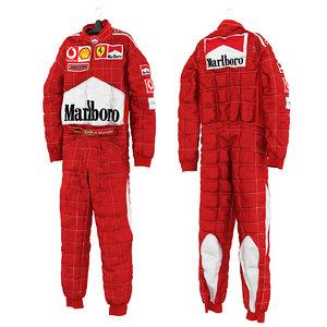 3D schumacher racing suit