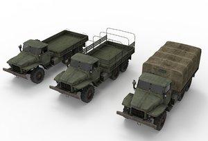 3D truck ural model