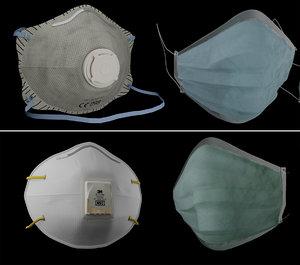 3D ffp2 mask model