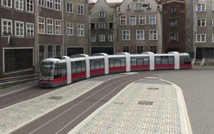tram line 3D model