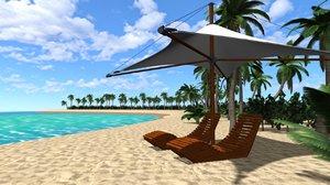 3D beach environment