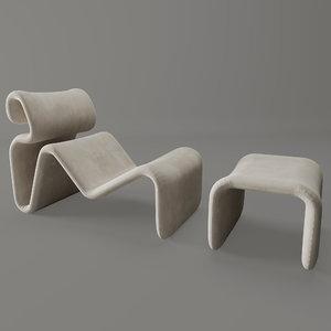 etcetera lounge jan ekselius 3D model