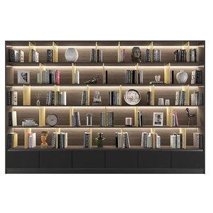 3D bookcase 01