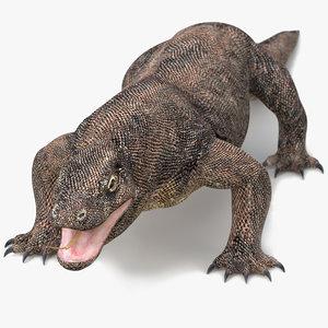 3D komodo dragon