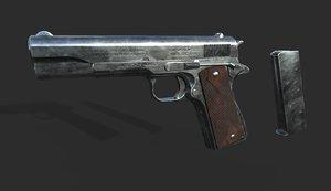 colt m1911 gun 3D model