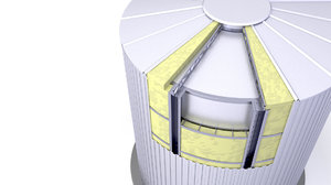 3D thermal insulation silo model