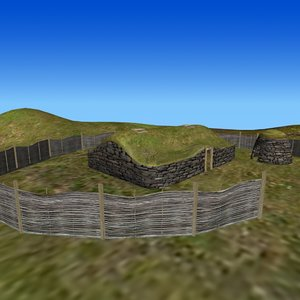 viking settlement 3D model