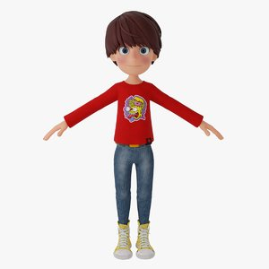 3D young boy
