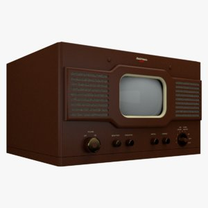national tv-7w television 1948 3D