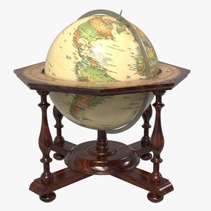 3D terrestrial globe