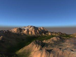 terrain landscape mountains 3D