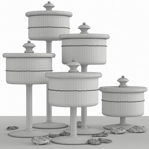 3D model cookies sweets showcase