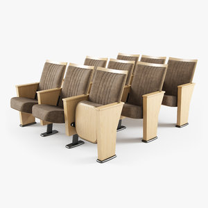 hussey seating auditorium chair 3D