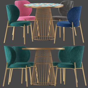 cult furniture elisa chair seat 3D model