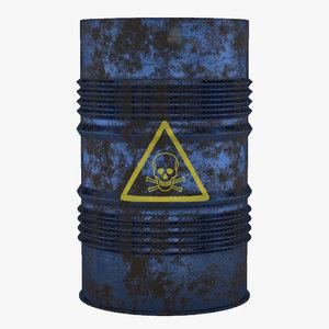 barrel blue 3D model