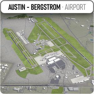 austin - bergstrom international 3D model