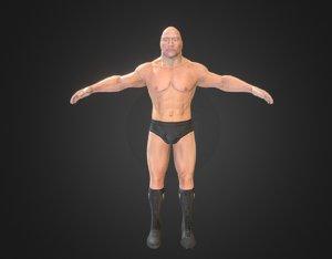 rock dwayne johnson 3D model