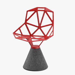 3D chair furniture furnishing