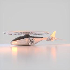 futuristic drone 3D model