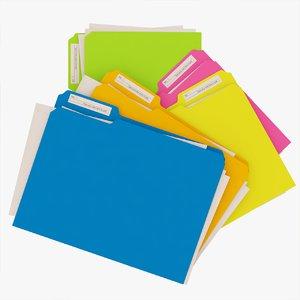 3D file folders model