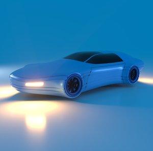 3D model futuristic vehicle
