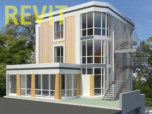 3D revit kindergarden building