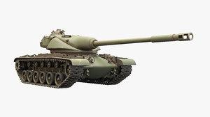 3D model t54e1 tank