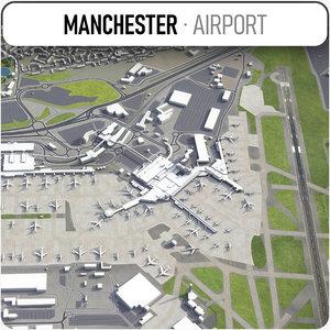 manchester airport - man 3D model