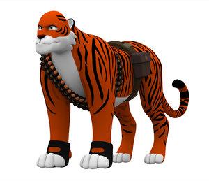 3D heavy tiger
