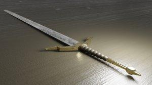 longsword sword 3D model