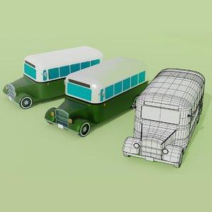 3D classic bus