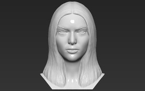 kendall jenner bust ready 3D model