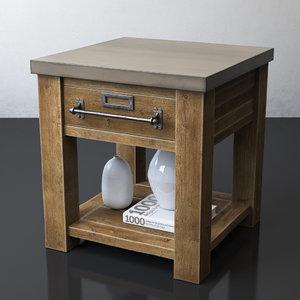 3D zinc-top mercantile table 22sq model