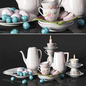 3D model decorative set provence service