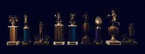classic sports trophies 3D model