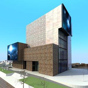 art building architecture 3D model