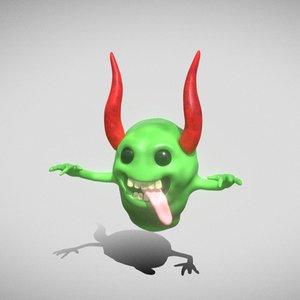 3D monster creatures ghost model