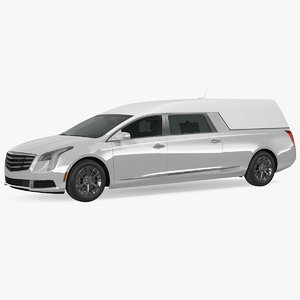 white luxury hearse car model