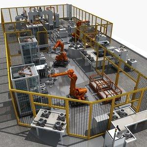 automatic production equipment 3D model