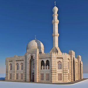 old islamic mosque 3D model