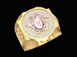 3D luxury ring versace