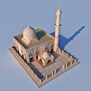 3D old islamic mosque