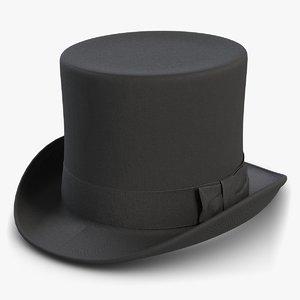 black cylinder hat model
