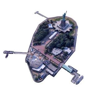 liberty island 3D model