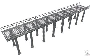 3D sc fi bridge