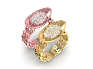 china wedding ring 3D model
